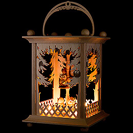 Pyramid Lantern - Forest and Owls - 38 cm / 15 inch
