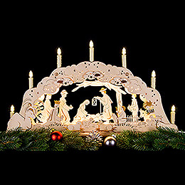 Double Candle Arch - Holy Family - 62x36cm/24x14 inch