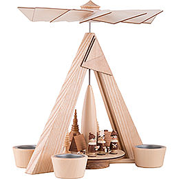 1-Tier Pyramid - Carolers Seiffen Natural - 29 cm / 11.2 inch