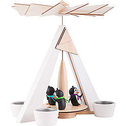 1-Tier Pyramid - Penguins White - 29 cm / 11.2 inch