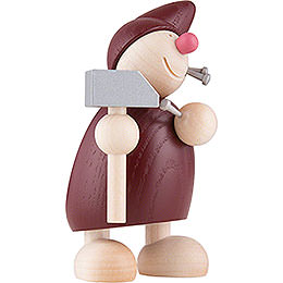 Wight with Hammer and Nails - Red - 10,5 cm / 4 inch