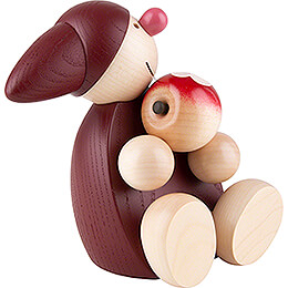 Wight with Apple, sitting - Red - 15 cm / 5.9 inch