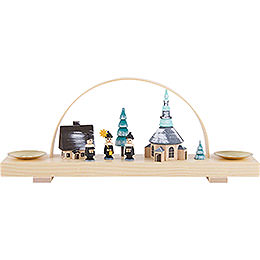 Candle Arch Winter Village Seiffen with Carolers- 24x12 cm / 9.4x4.7 inch