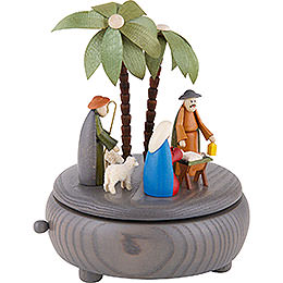Music Box - Nativity - Grey - 18 cm / 7 inch