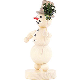Snowman with Broom - 12 cm / 4.7 inch