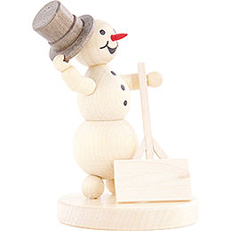 Snowman with Shovel - 12 cm / 4.7 inch