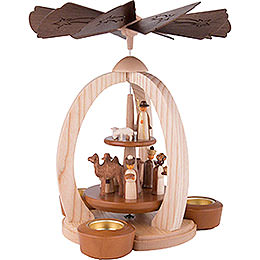 2-Tier Pyramid Nativity - Exclusive - 28 cm / 11 inch