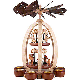 2-Tier Pyramid - Nativity with Thiel-Figuren - Exclusive - 44 cm / 17.3 inch