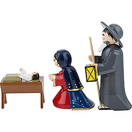 Holy Family, Set of Three, Colored - 7 cm / 2.8 inch