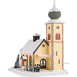 Lighted House Alpine Church - 37 cm / 14.6 inch