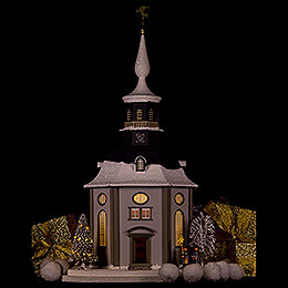 Lighted House Carlsfeld Church - 45 cm / 17.7 inch