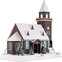 Lighted House Old Church - 43 cm / 16.9 inch