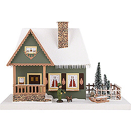 Lighted House Old Forester's Lodge - 25 cm / 9.8 inch