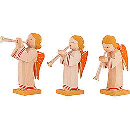 Angels with Flute, Set of Three - 5,5 cm / 2.2 inch