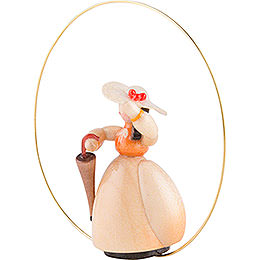 Schaarschmidt Hat Lady with Umbrella in Ring - 6 cm / 2.4 inch