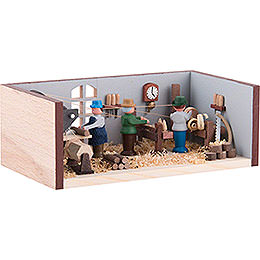 Miniature Room - Turner's Workshop - 4 cm / 1.6 inch