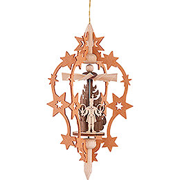 Tree Ornament - Star - Miner, Angel and Horse Rider - 15,5 cm / 6.1 inch