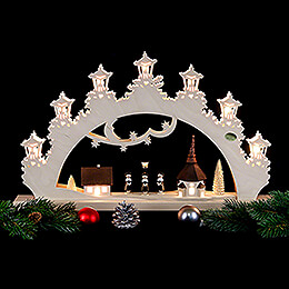 3D Candle Arch - 'Carolers' - 52x32x6 cm / 20x13x2.3 inch