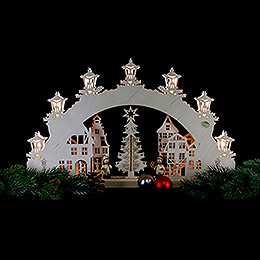 3D Candle Arch - 'Christmas Market' - 52x32x4,5 cm / 20.5x12.5x1.7 inch