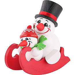 Smoker - Cool-Men on Sleigh - Ball Figure - 12 cm / 5 inch