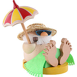 Smoker - Santa Incognito under Parasol - Ball Figure - 12 cm / 4.7 inch