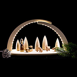 Modern Light Arch with LED - Christmas - 42x21 cm / 16.5x8.3 inch