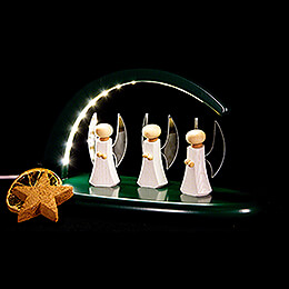 Modern Light Arch with LED - Angels - green - 24x13 cm / 9.4x5.1 inch