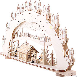 3D Candle Arch - 'Ski Lodge - Smoker House' - 66x40x11,5 cm / 26x16x5 inch