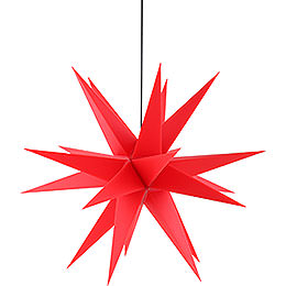 Advents Star for Inside and Outside Use Red incl. Lighting - 60 cm / 23.6 inch