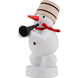 Snowman-Musician with Clarinet - 8 cm / 3 inch