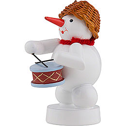 Snowman Musician with Drums - 8 cm / 3 inch