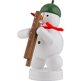 Snowman Musician with Bassoon - 8 cm / 3 inch