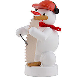 Snowman Musician with Musical Saw - 8 cm / 3 inch