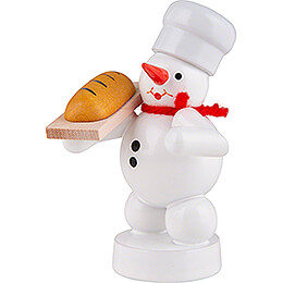 Snowman Baker with Bread - 8 cm / 3.1 inch