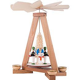1-Tier Pyramid with Miner and Angel - 23 cm / 9.1 inch