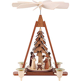 1-Tier Christmas Pyramid - Nativity Scene - 29 cm / 11 inch