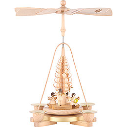 1-Tier Pyramid - Angel Natural Wood - 25 cm / 9.8 inch