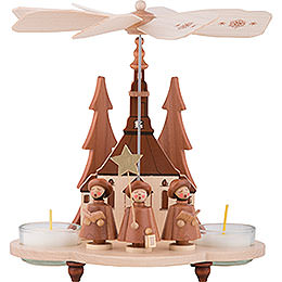 1-Tier Pyramid - Carolers Natural - 19,5 cm / 7.5 inch