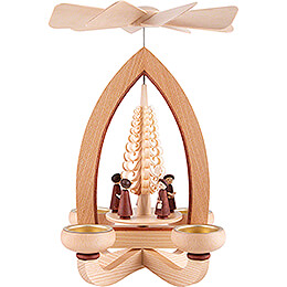 1-Tier Pyramid - Carolers - Natural - 28 cm / 11 inch