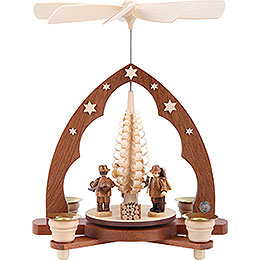 1-Tier Pyramid - Forest People - 28 cm / 11 inch