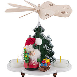 1-Tier Pyramid - Santa Claus with Sleigh - 19,5 cm / 8 inch