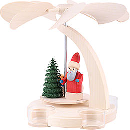 1-Tier Pyramid - Santa with Sled - 18 cm / 7 inch