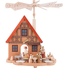 1-Tier Table Pyramid House Nativity - 29 cm / 11.4 inch