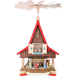 2-Tier Adventhouse - Nativity Scene - 53 cm / 21 inch