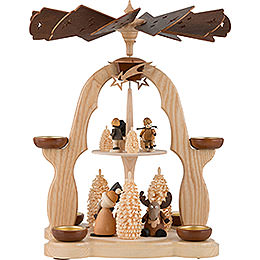 2-Tier Pyramid - Moose and Snowman - 40 cm / 16 inch