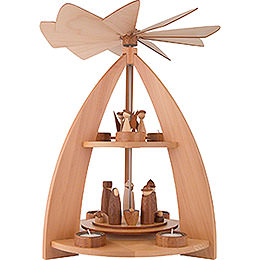 2-Tier Pyramid modern Design Nativity - 42 cm / 16.5 inch