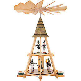 2-Tier Whim Pyramid with Miners - 52 cm / 20.5 inch
