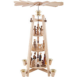 3-Tier Pyramid - Nativity Scene - 44 cm / 16 inch