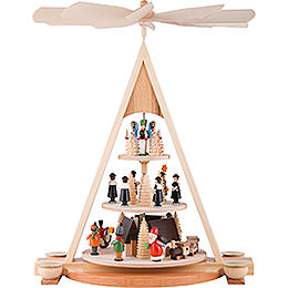 3-Tier Pyramid - Ore Mountain Christmas - 42 cm / 16.5 inch
