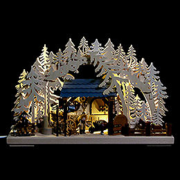 3D Candle Arch - Stables by Ratags - 43x30 cm / 17x12 inch